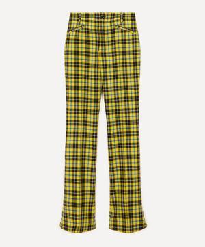Slim-Fit Tartan Wool Trousers