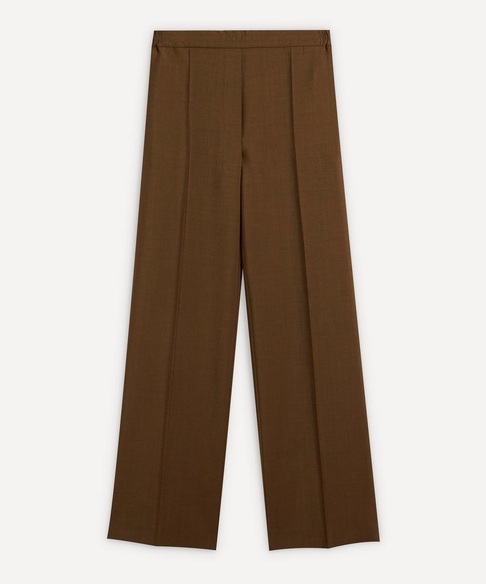 Acne Studios - Front Pleat Wool-Blend Trousers