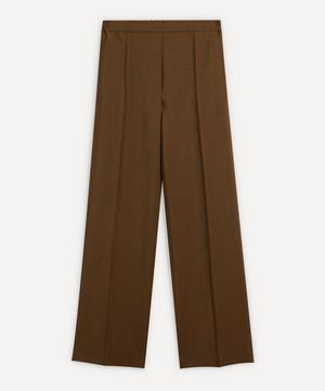 Front Pleat Wool-Blend Trousers