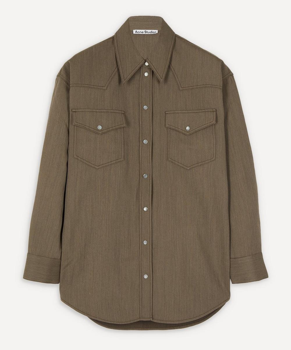 Acne Studios - Western Fluid Wool Shirt
