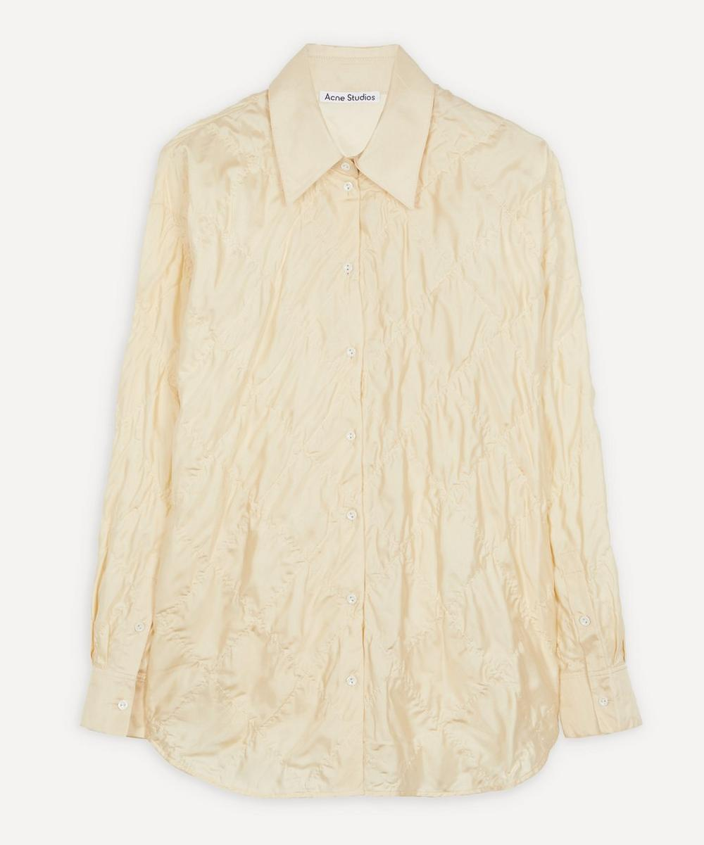 Acne Studios - Quilted Silk Shirt