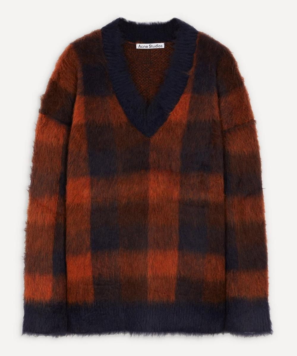 Acne Studios - Check Alpaca-Blend Sweater image number 0