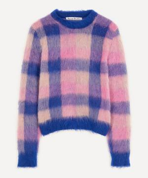 Check Alpaca-Blend Crew-Neck Sweater