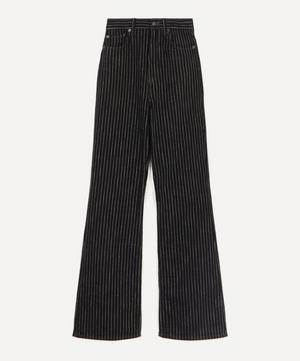 1990 Flared Pinstriped Jeans