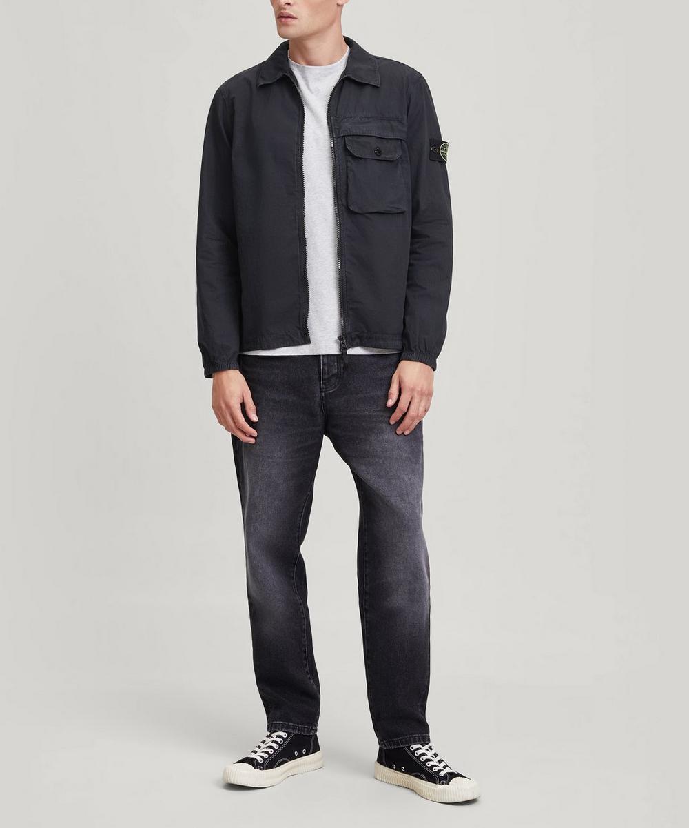 Stone Island - Brushed Cotton Zip-Through Overshirt