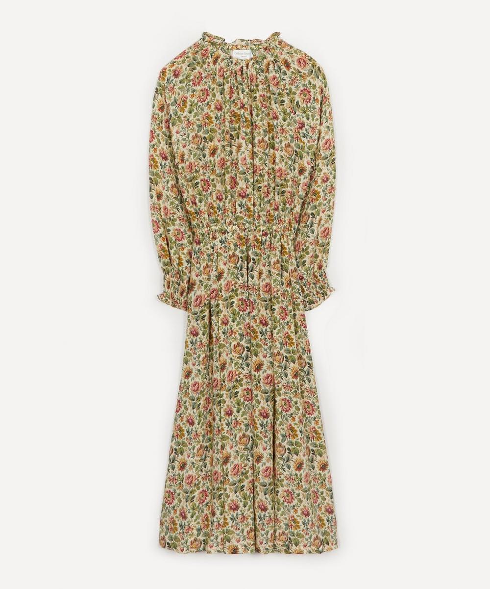 Officine Générale - Norma Tapestry Elasticated Midi Dress