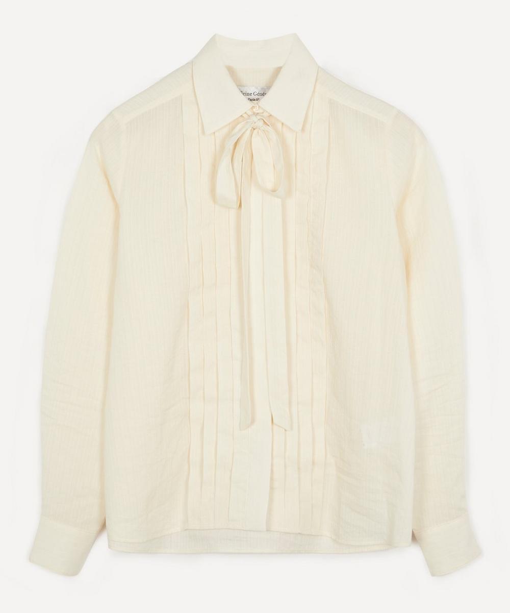 Officine Générale - Wanda Front Pleated Neck Shirt