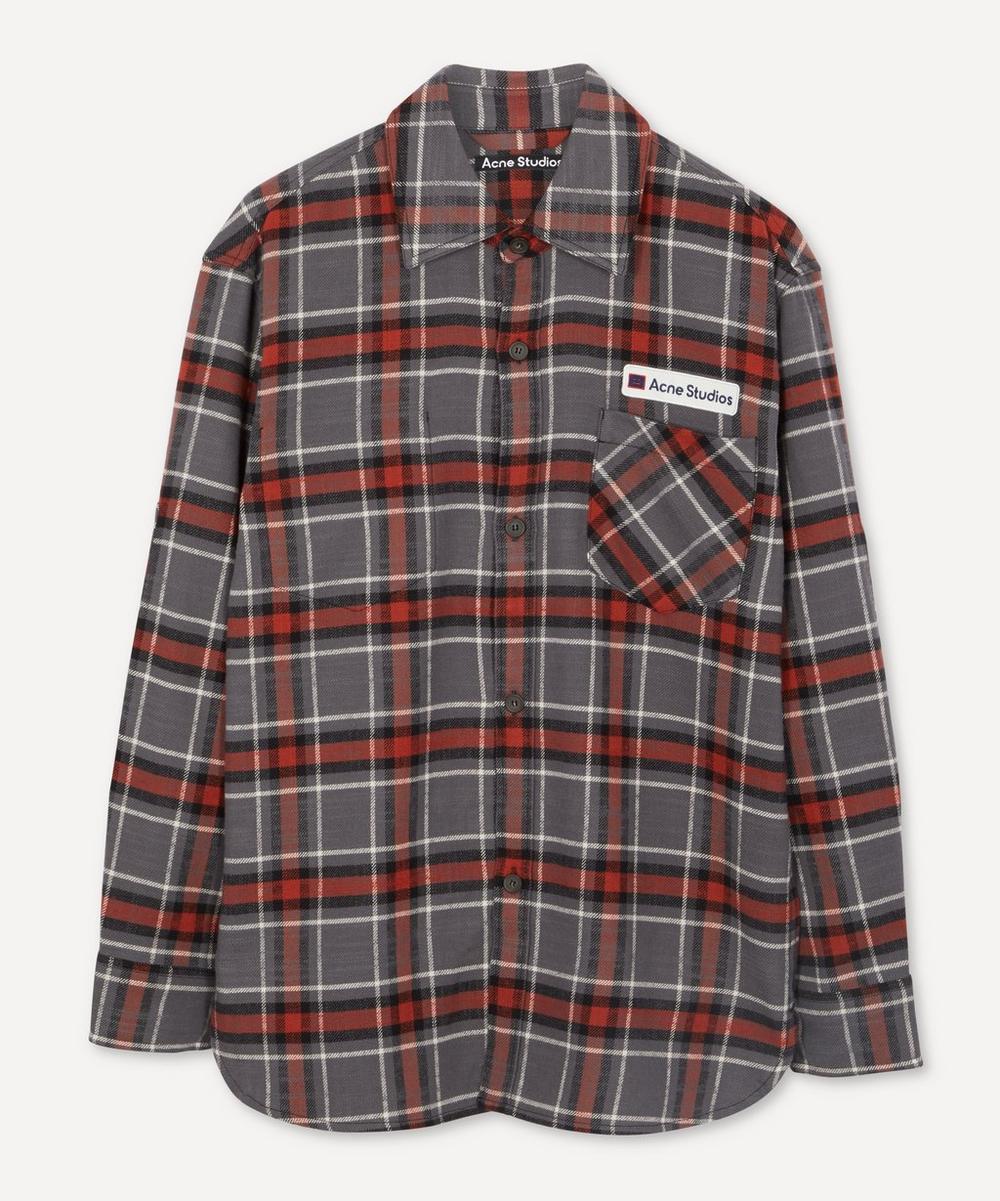 Acne Studios - Salak Face Logo Flannel Shirt