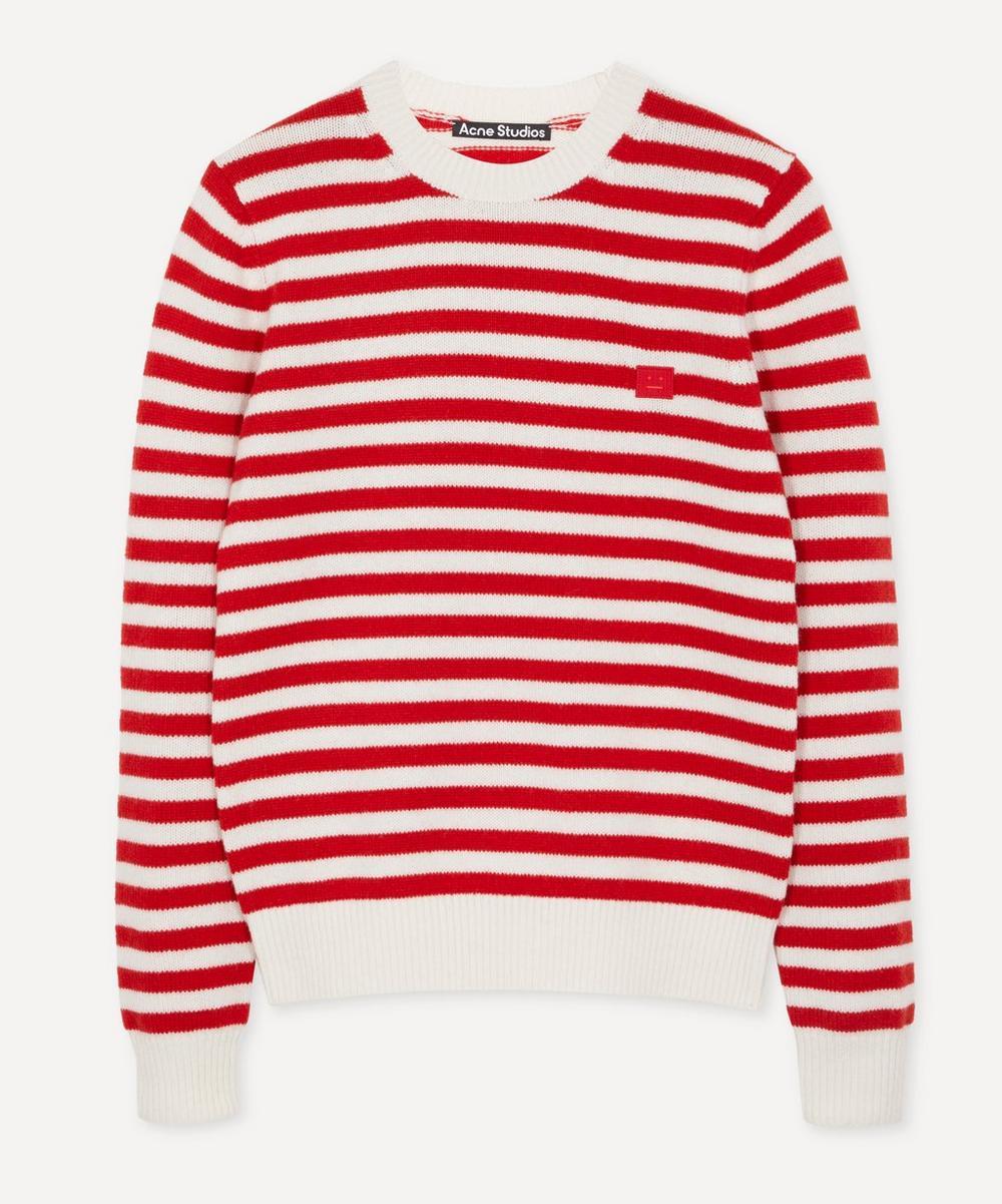 Acne Studios - Kalon Face Stripe Knit Sweater