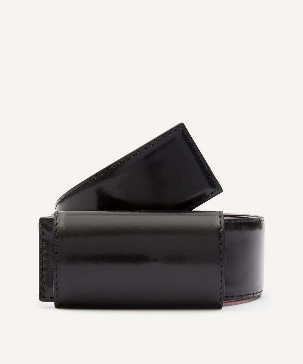 Marni - Concealed Buckle Leather Belt