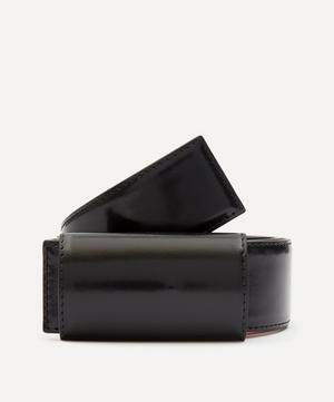 Concealed Buckle Leather Belt
