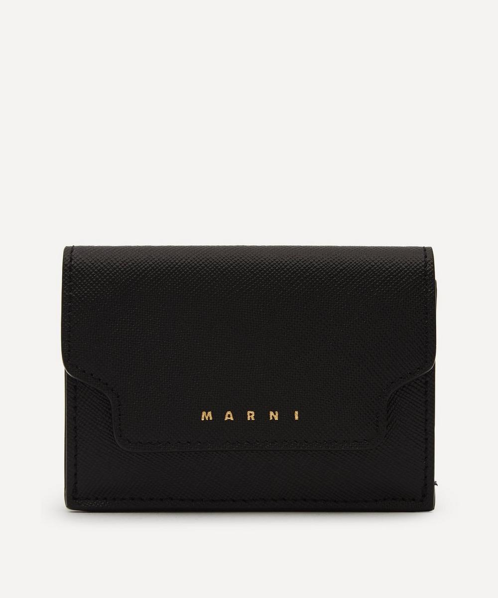Marni - Leather Tri-Fold Wallet