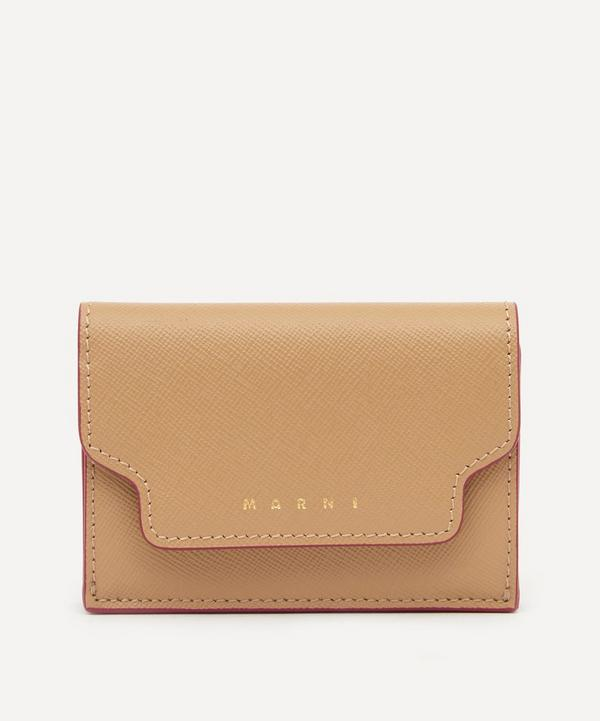 Marni - Leather Tri-Fold Wallet