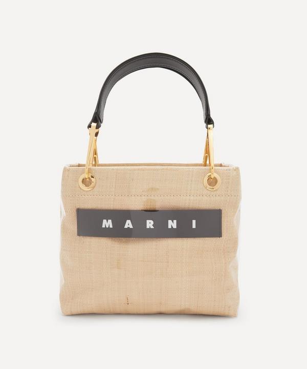 Marni - Glossy Grip Small Raffia Tote Bag