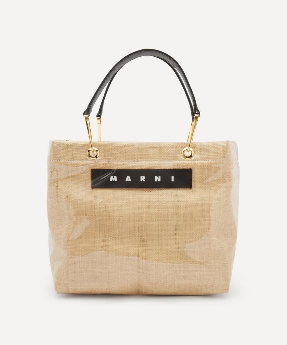 Marni - Glossy Grip Medium Raffia Tote Bag
