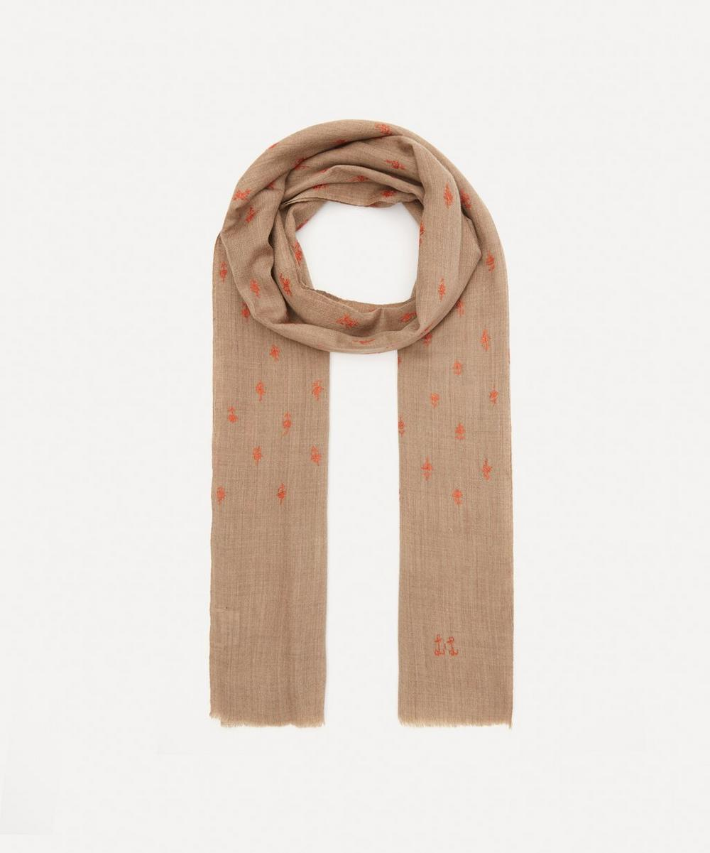 Lily and Lionel - Floral Embroidered Wool-Blend Scarf