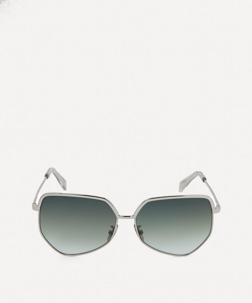 Celine - Hexagonal Metal Frame Sunglasses