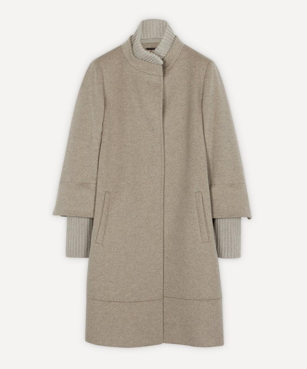 Cinzia Rocca - Knit Detail Wool Coat