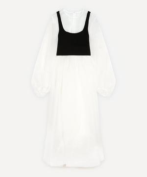 Satin Organdie Layered Dress