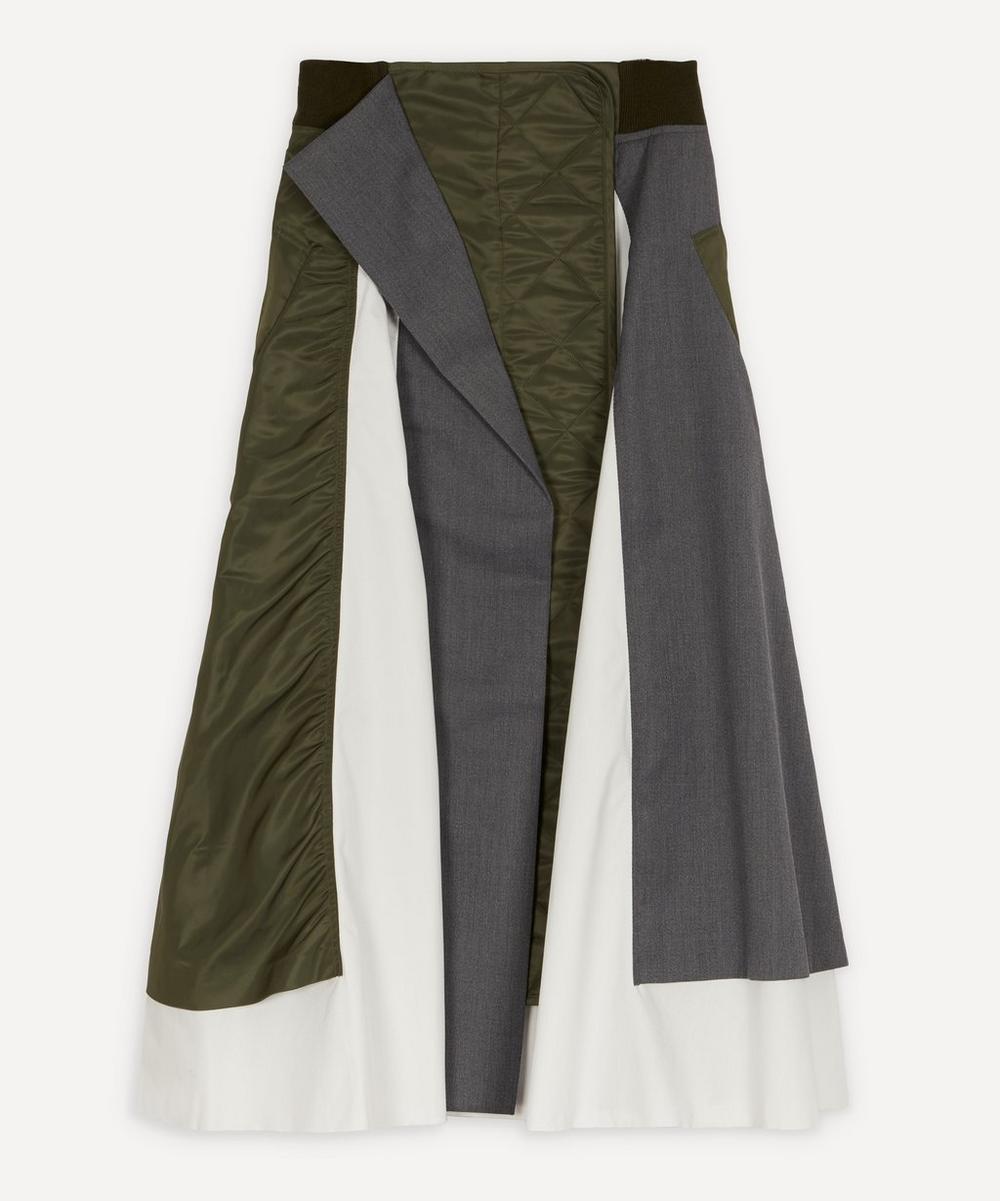 Enföld - Mix Fabric Midi-Skirt