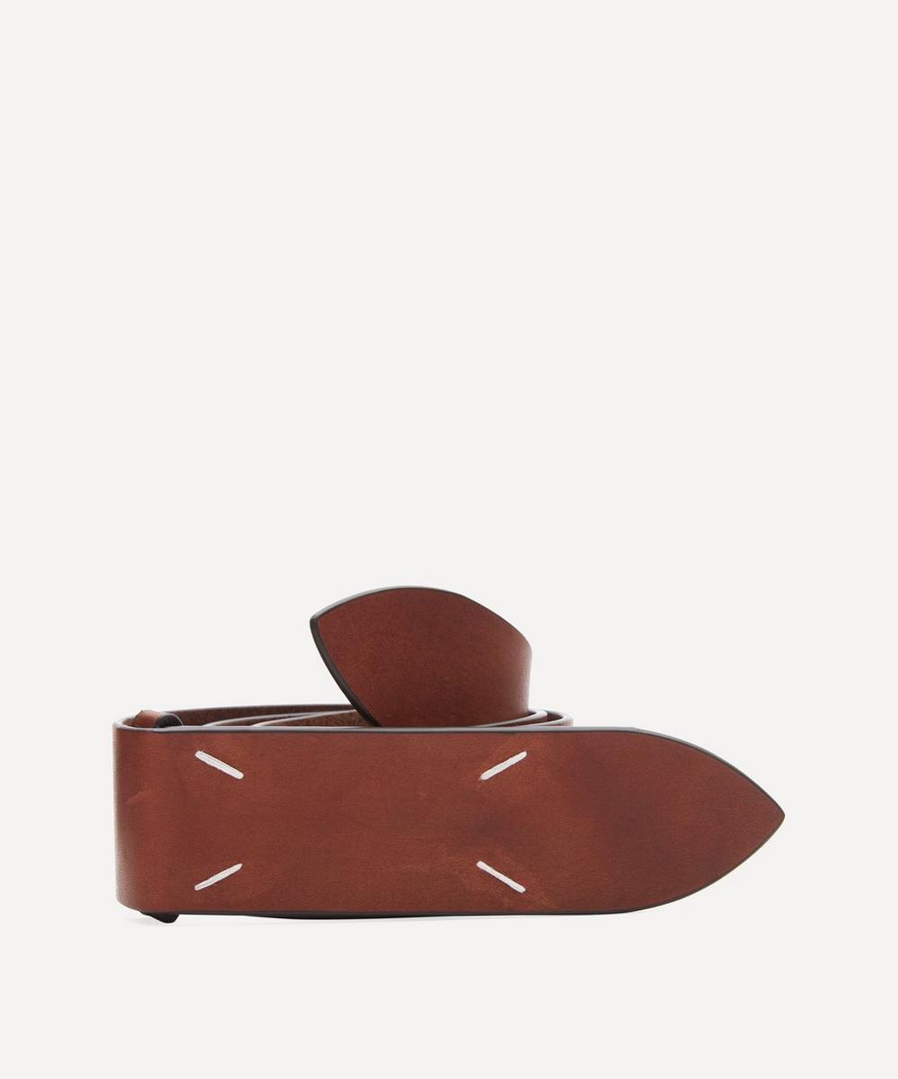 Maison Margiela - Four-Stitch Leather Belt