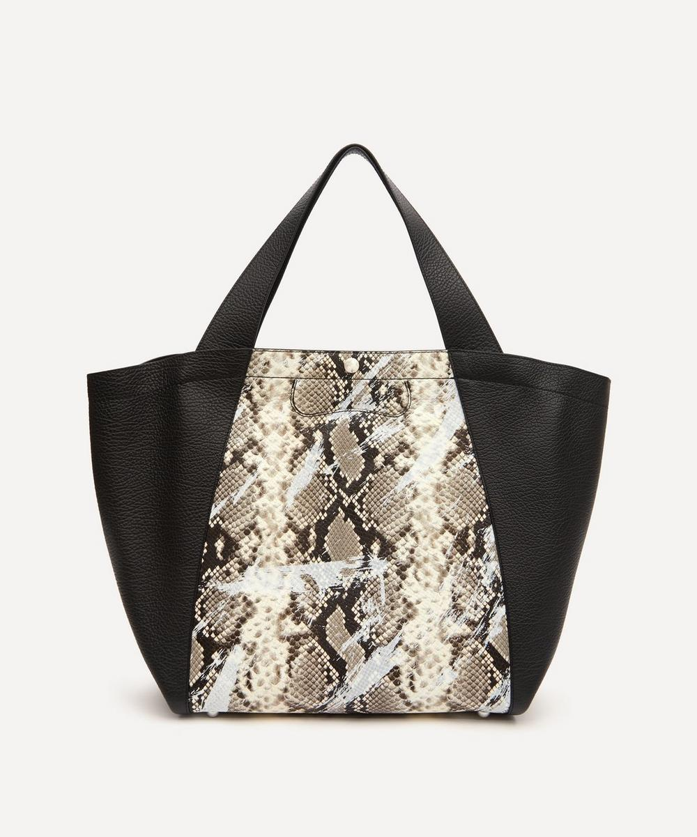 Maison Margiela - Python Print Leather Tote Bag