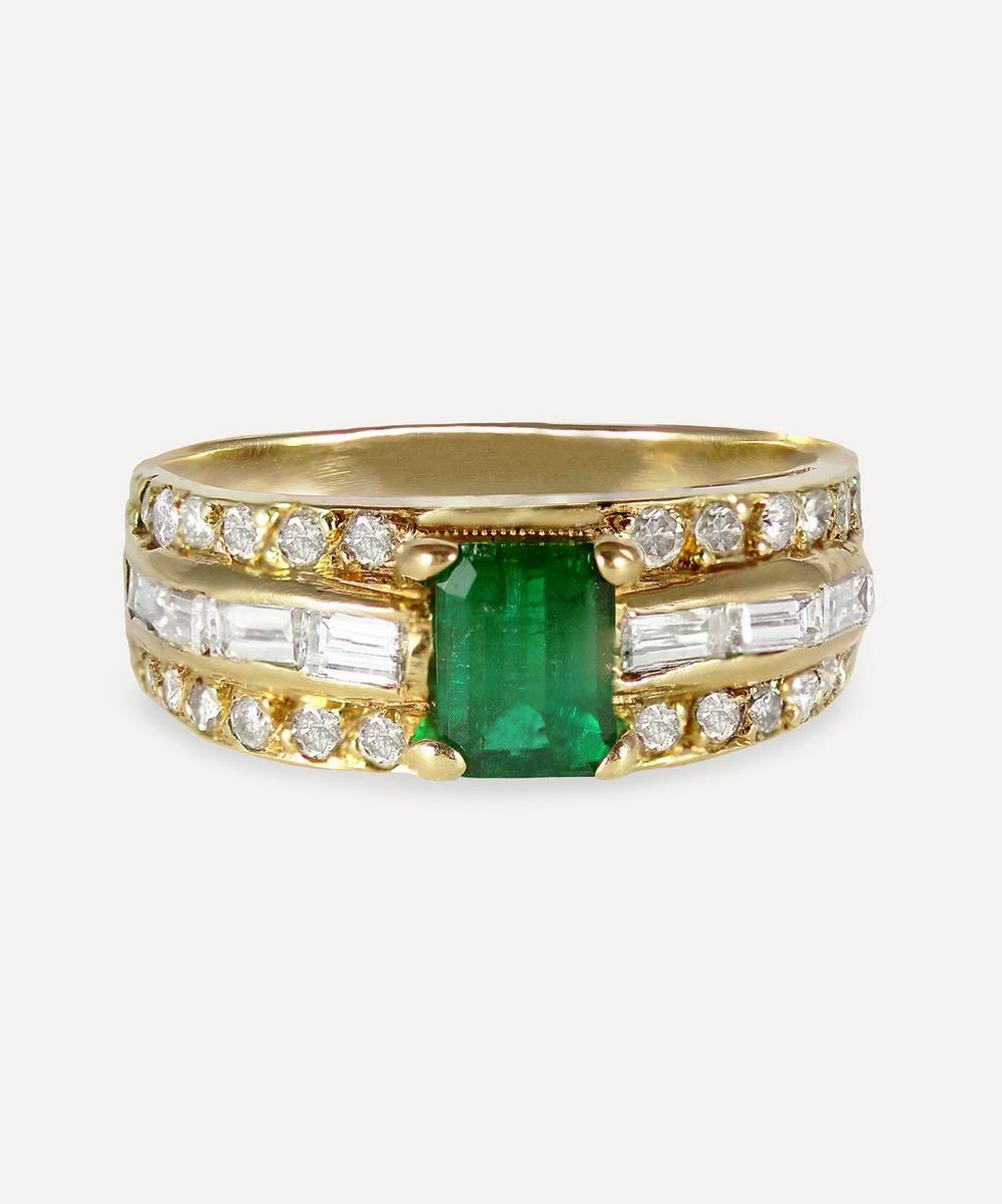 Kojis - Gold Vintage 0.55ct Emerald and Diamond Ring