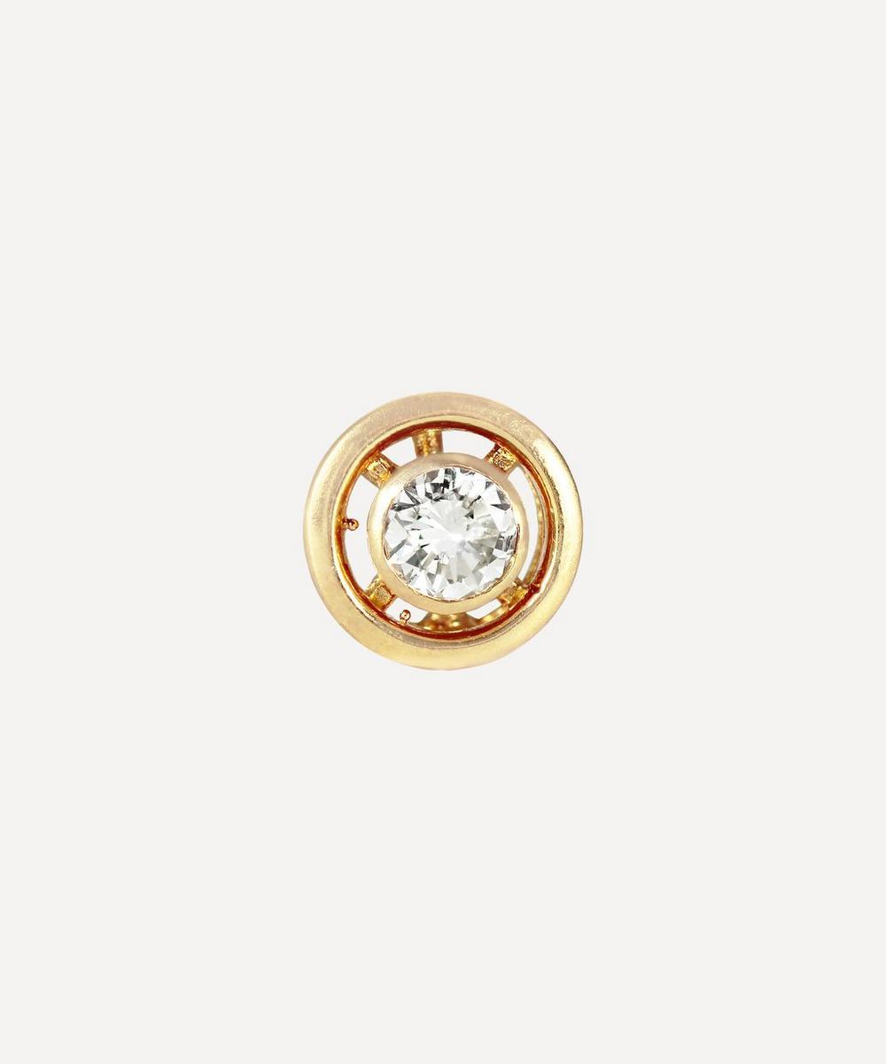Kojis - Gold Vintage Diamond Single Stud Earring