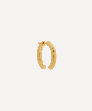 Gold-Plated Broken 18 Hoop Earring