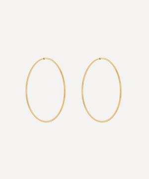 Gold-Plated Sunset 70 Hoop Earrings