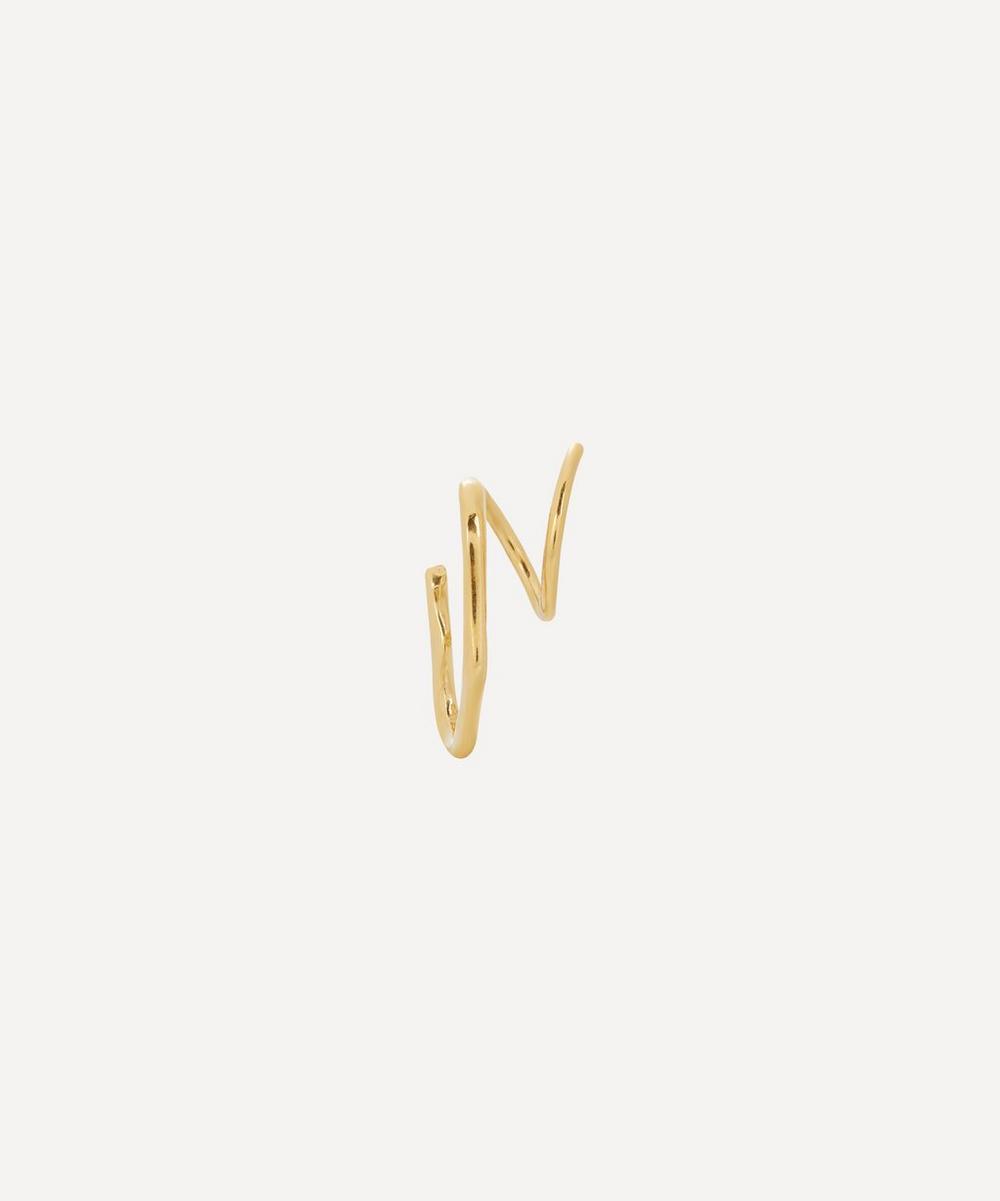 Maria Black - Gold-Plated Lake Twirl Earring Left