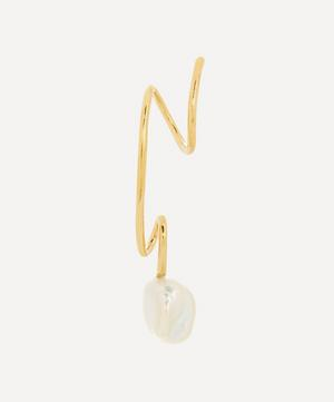 Gold-Plated Detour Baroque Pearl Twirl Earring Left
