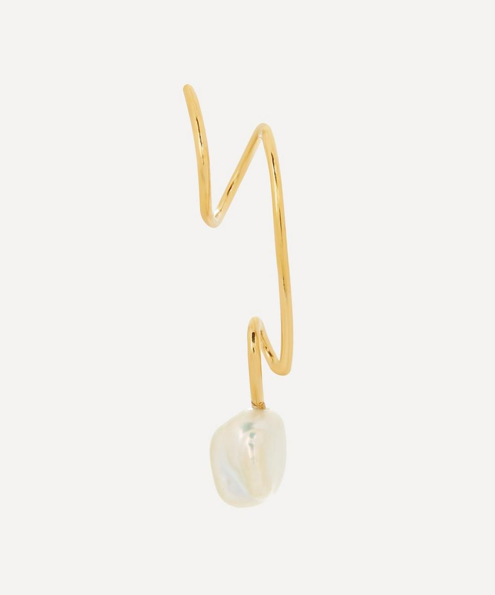 Maria Black - Gold-Plated Detour Baroque Pearl Twirl Earring Right