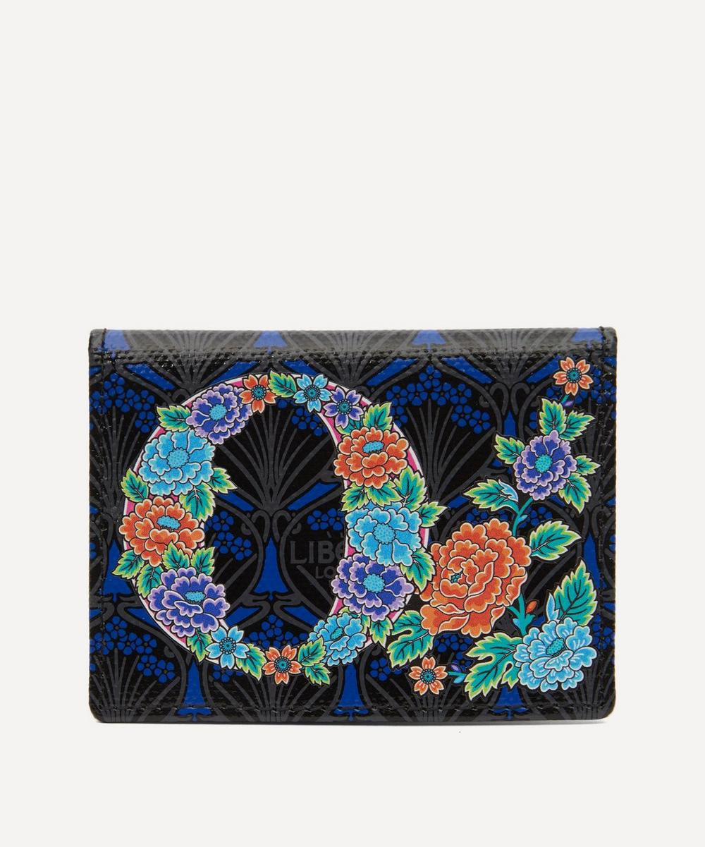 Liberty - Alphabet Travel Card Holder in O Print
