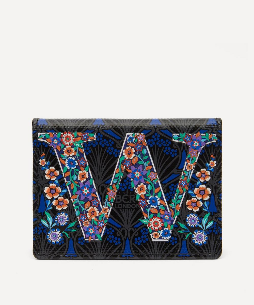 Liberty - Alphabet Travel Card Holder in W Print