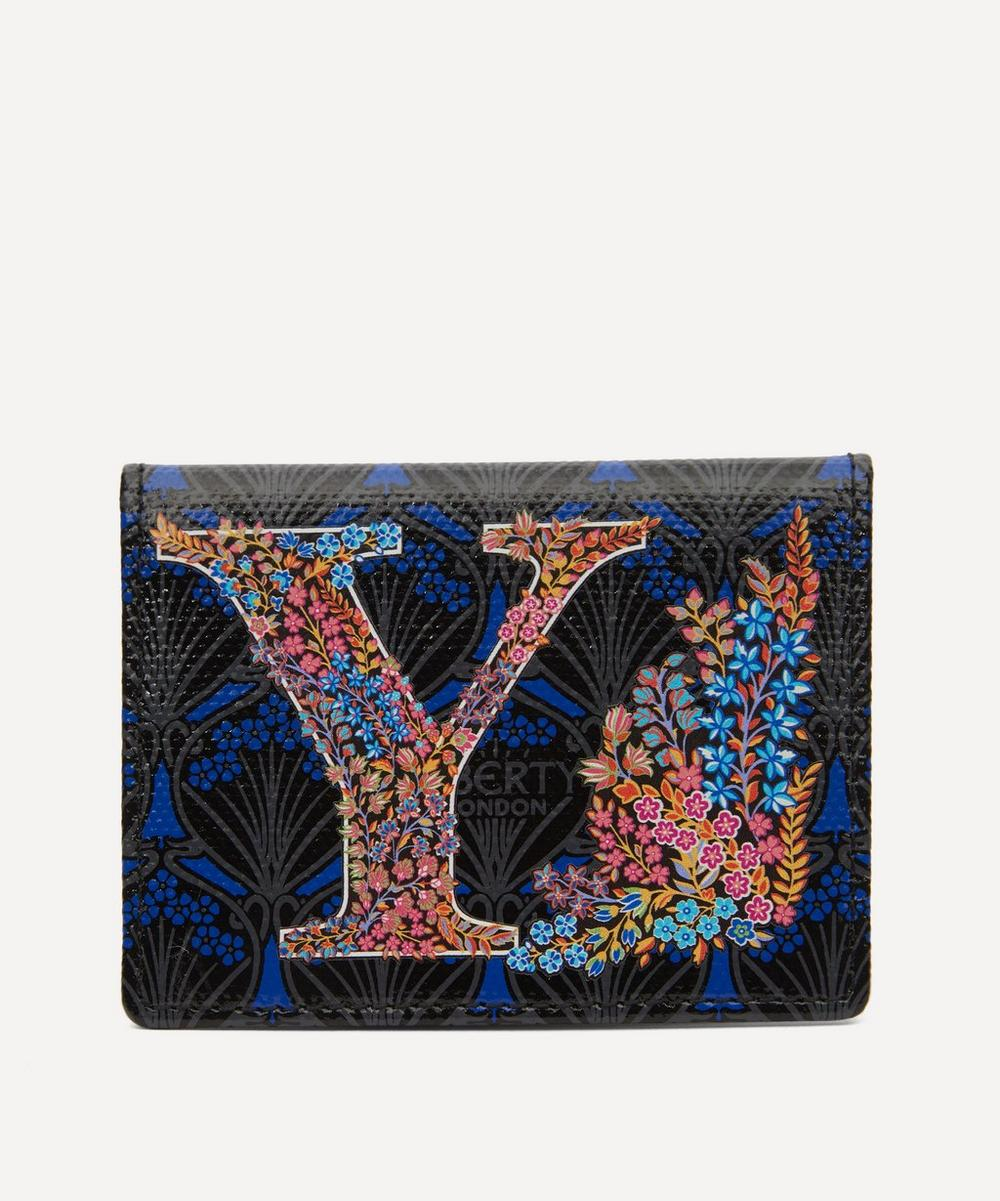Liberty - Alphabet Travel Card Holder in Y Print