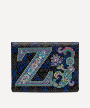 Alphabet Travel Card Holder in Z Print