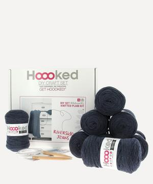 Knitted Plaid Cable Throw Kit