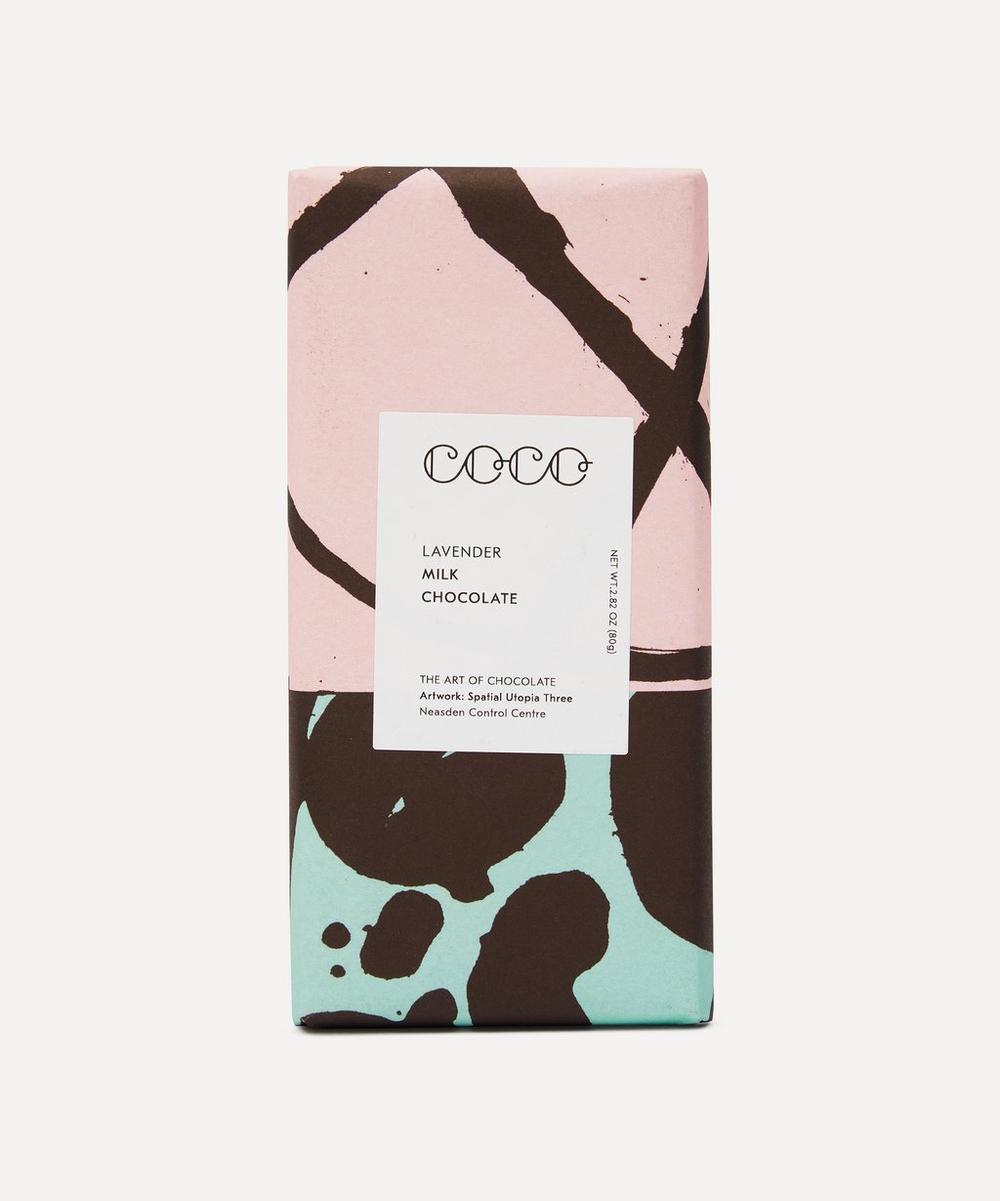 Coco Chocolatier - Milk Lavendar Chocolate Bar 80g