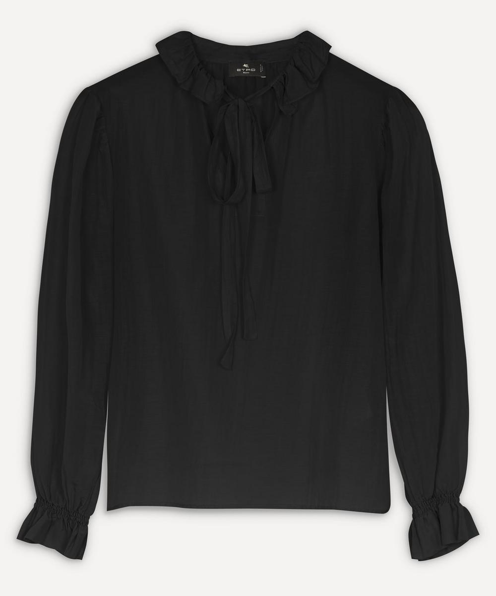 Etro - Frill Collar Silk-Blend Blouse