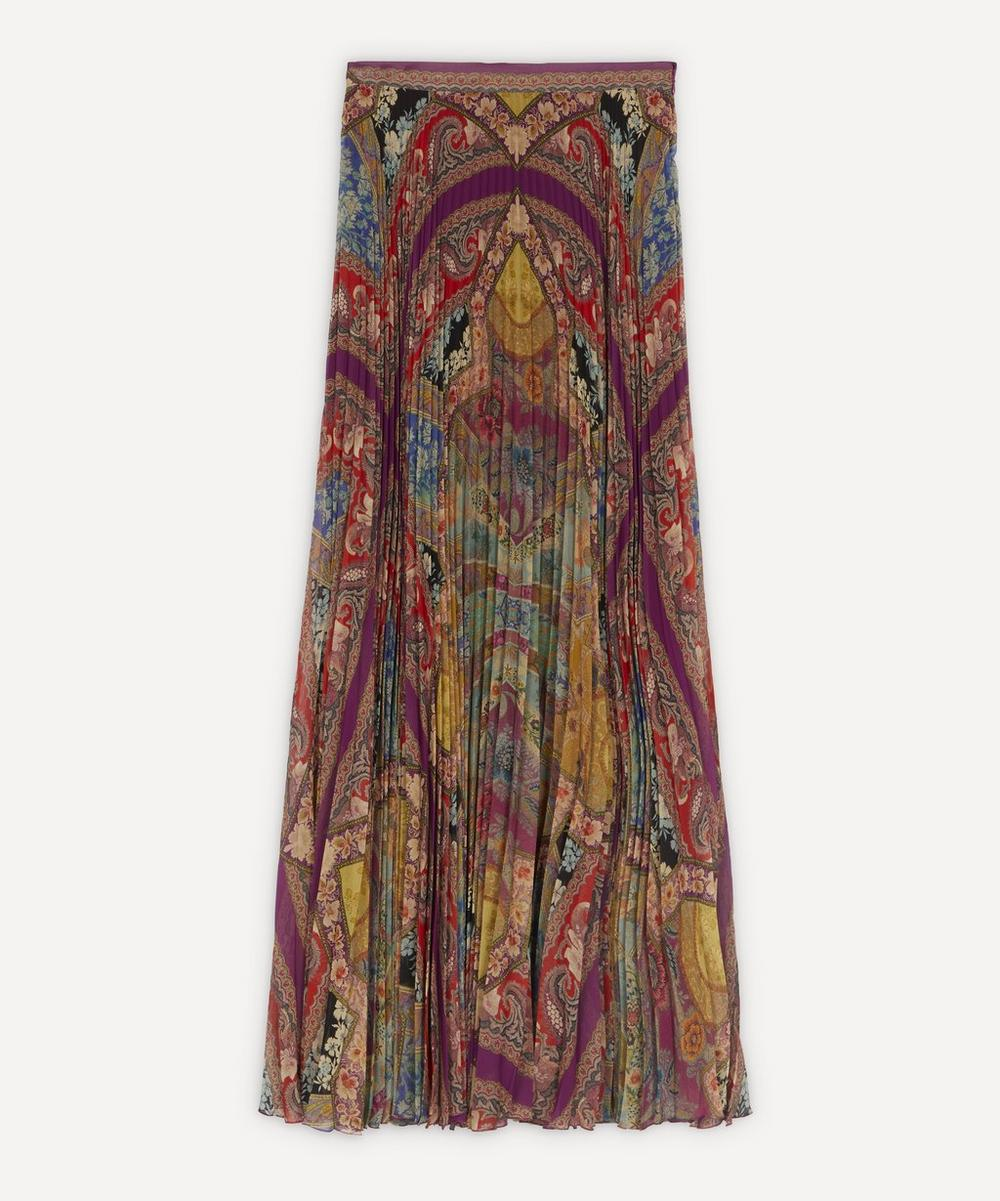 Etro - Pleated Floral Maxi-Skirt