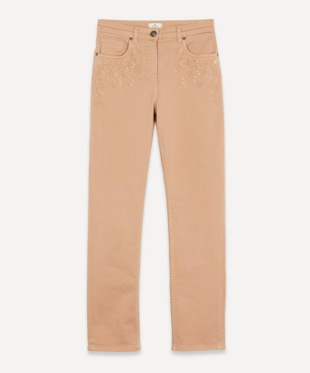 Etro - Embroidered Jeans