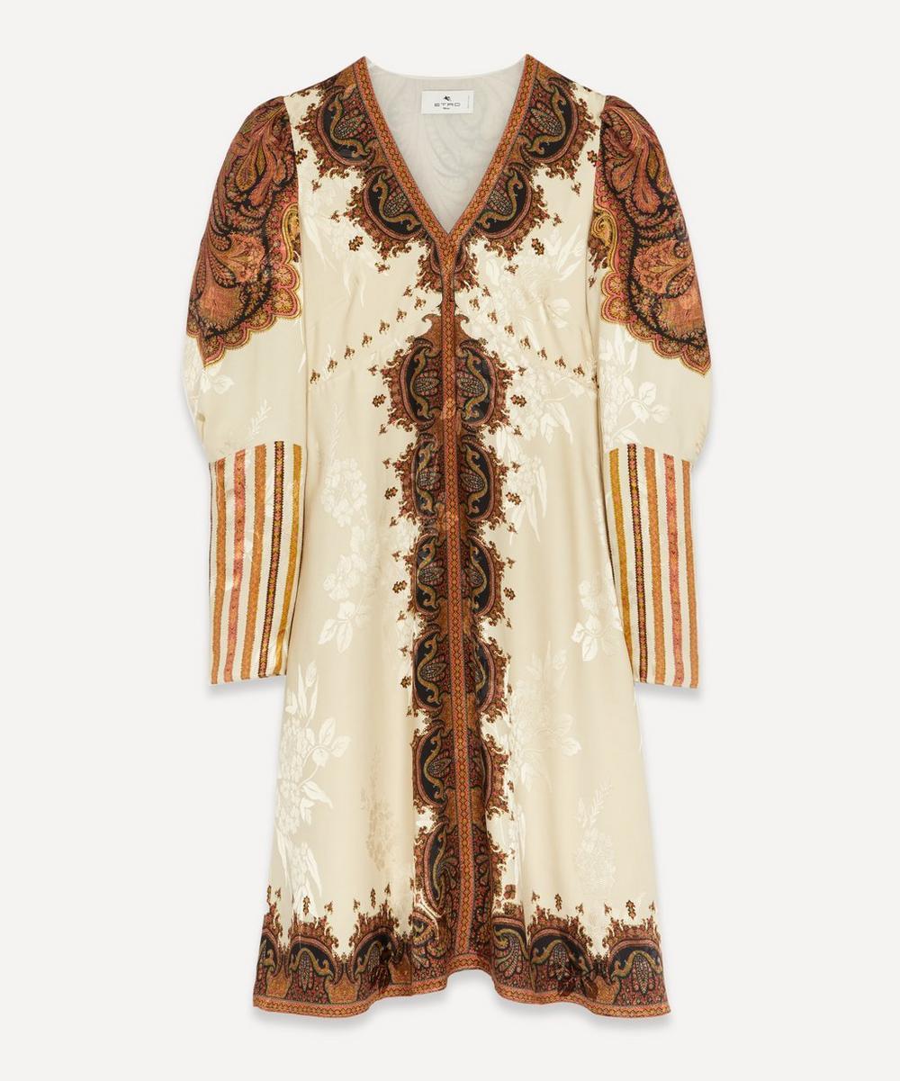 Etro - Silk V-Neck Paisley Dress