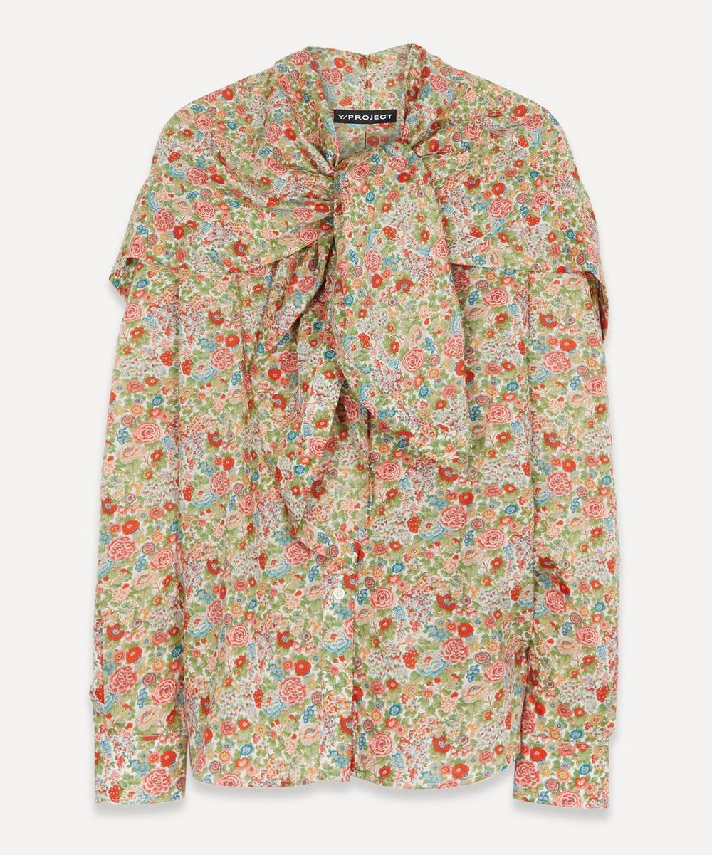 Y/PROJECT - Liberty Print Wrap Scarf Blouse