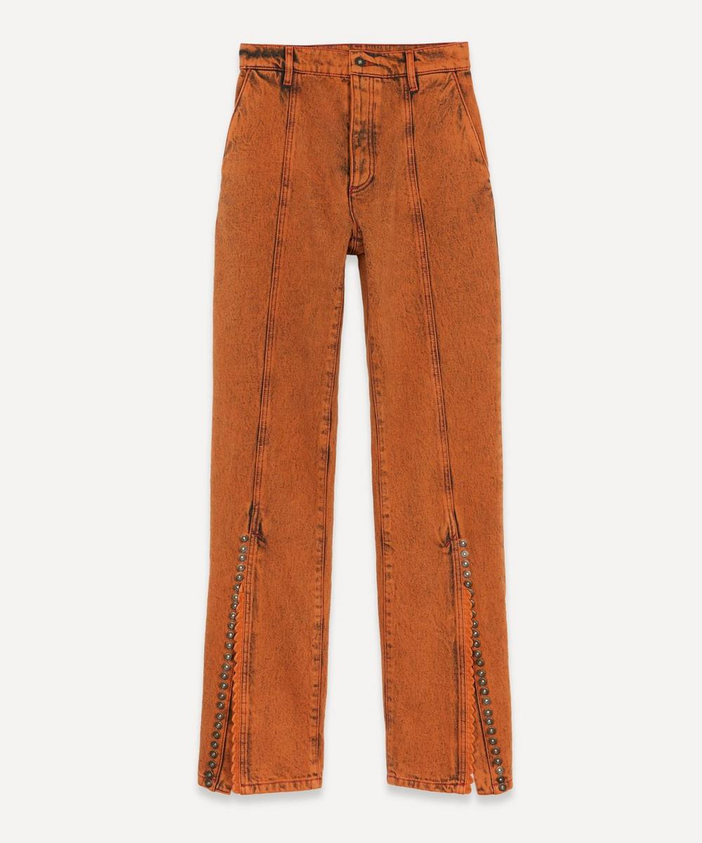 Y/PROJECT - Multi-Button High-Waist Jeans