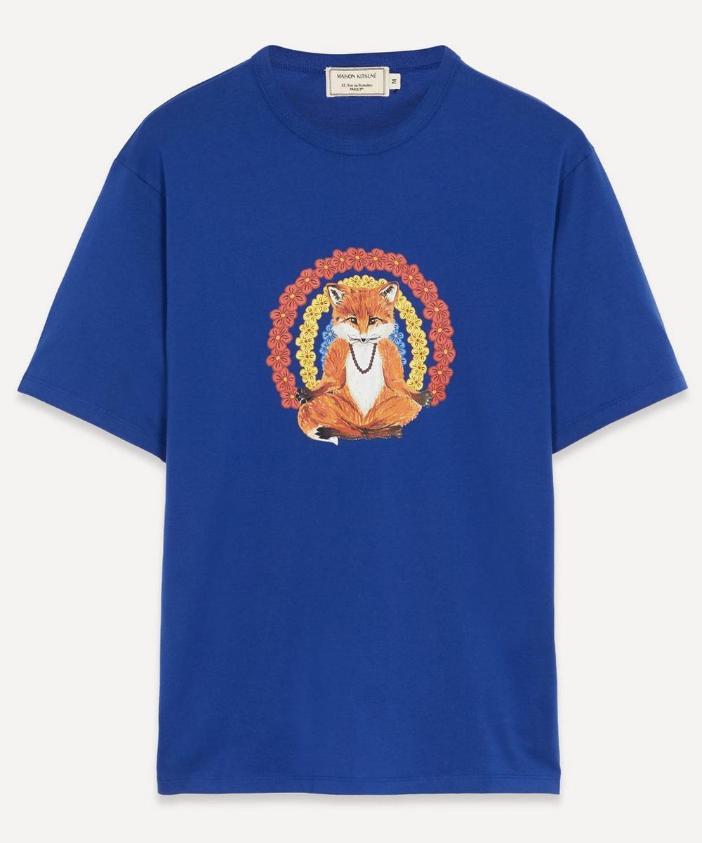 Maison Kitsuné - Flower Fox Cotton T-Shirt
