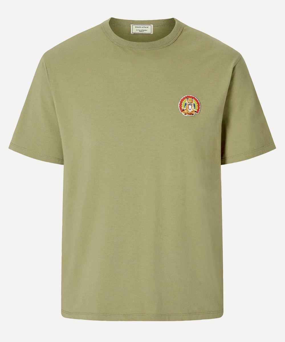 Maison Kitsuné - Flower Fox Patch T-Shirt