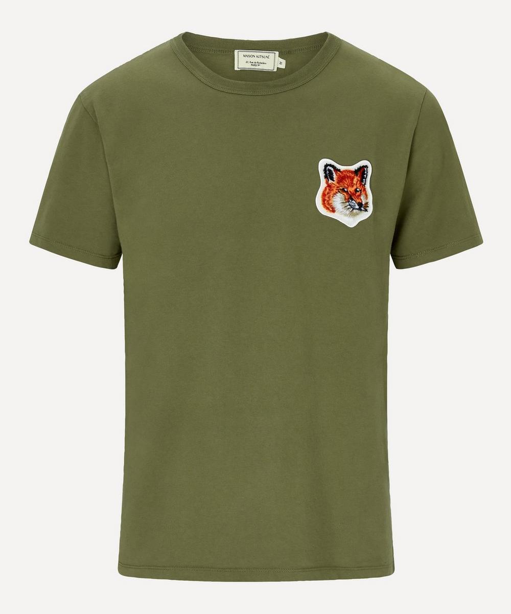 Maison Kitsuné - Velvet Fox Head Patch T-Shirt