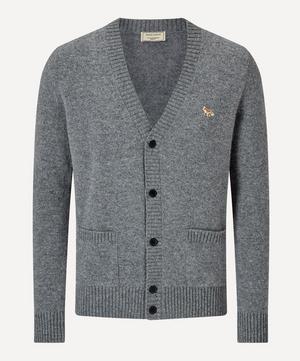 Fox Patch Wool Cardigan
