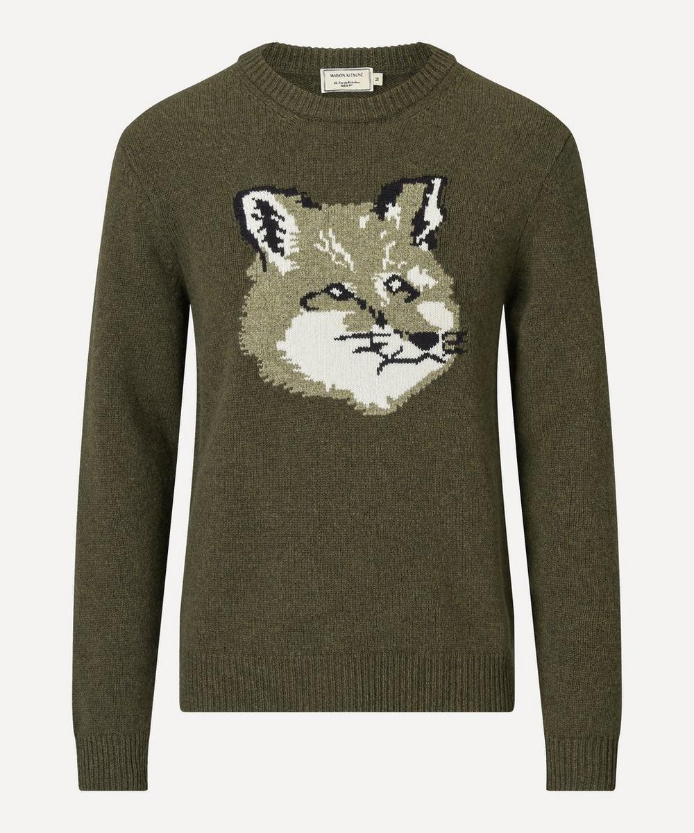Maison Kitsuné - Fox Head Wool Knit Jumper
